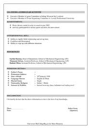 What Is The Best Resume Format For Be Mechanical Freshers Quora