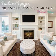 Having a small apartment does not mean you have to have an unorganized one;  you