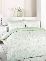 signature home bird toile duvet cover set and 2 pillowcase green king size