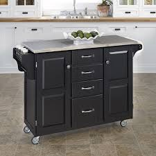 black kitchen island with stainless steel top lovely 53 most kitchen island wheels stainless steel