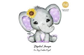 Download as svg vector, transparent png, eps or psd. Girl Elephant Purple And Gray Graphic By Adlydigital Creative Fabrica In 2020 Elephant Clip Art Cute Little Baby Girl Baby Girl Purple