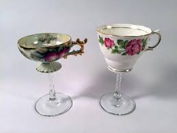 how to turn tea cups into cocktail glasses