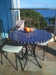 mosaic table outdoor dining
