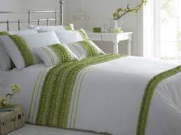 white and lime green duvet cover home design ideas
