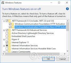 how to enable net framework on windows 10