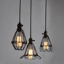 lovable wire basket chandelier cage light