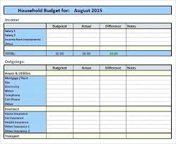 sample household budget home budget template sample home budget template excel monthly