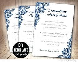 Free Invitation Templates Download Navy Blue Wedding Invitation Template Download Printable Photo