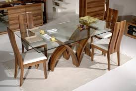 dining room table glass top wood base. glass top dining table with wooden base white room wood d