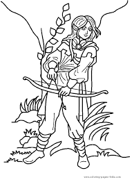Elf Color Page Coloring Pages For Kids Fantasy Medieval