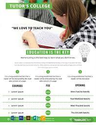 Tutor Flyer Templates Free Education Tutoring Flyer Template Word Psd Apple