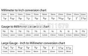Body Jewelry Measurement Chart 2pcs Lot G23 Titanium Septum Clicker Nose Ring 14g Lip
