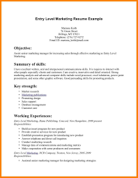 9 Entry Level Resume Examples Business Opportunity Program