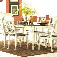 distressed round dining table and chairs white kitchen medium size of set grey