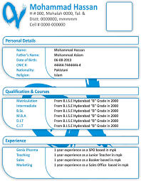Resume Format Free Download In Ms Word 2013 Gulijobs Com