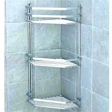 simplehuman corner shower caddy corner shower stainless steel and anodised aluminium bathroom tile shelves shelf can