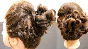 Fluffy High Puff With Messy Bun Hot Hairstyle For Girls Puff