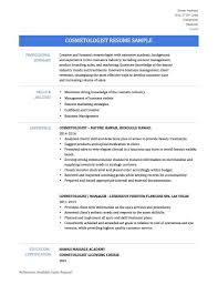 Cosmetology Resume Template 10 Samples You Must Templates Pics