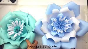 Diy Giant Paper Rose Flower Diy Giant Paper Rose How To Tutorial Paper Flower Backdrop For Wedding 3d Paper Flower