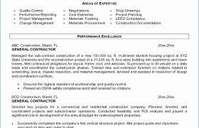 contractor resume general contractor resume best unique purpose statement job free