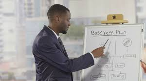 Business Man Presenting A Business Plan Close Up Shot Stock Video