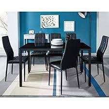 Générique Selva Ensemble Table A Manger 6 Personnes 140x80 Cm 6