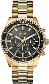 top 9 most popular guess watches under £200 best buy for men guess men s 45mm chronograph gold tone steel bracelet acrylic date watch u0170g2