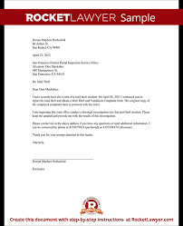 Letter Report Letter To Report Mail Theft Template With Sample