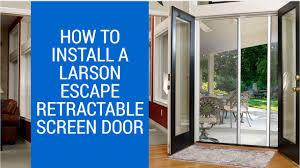 How-to Install LARSON Escape Retractable Screen Door - YouTube
