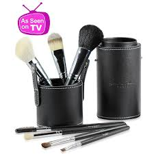 best professional makeup brushes set for eye and face includes free leather brush holder remended by mice money great for travel high quality