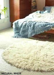 stylish natural white 6 round flokati rug premium 25 wool pile white flokati rug white flokati