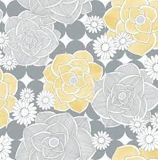 Retro Floral Peel-and-Stick Wallpaper ...
