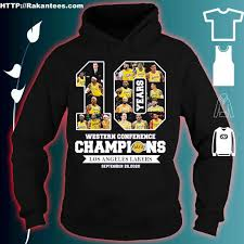 Los angeles lakers 2020 nba champions '47 ultra rival tee womens. 10 Years Western Conference Champions Los Angeles Lakers September 26 2020 Shirt Hoodie Sweater Long Sleeve And Tank Top
