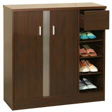 wooden shoe cabinet furniture. Attractive Design Shoe Storage Cabinets Features Dark Brown Color Wooden Cabinet And Double Doors Furniture E