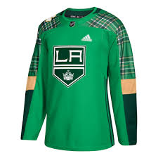 Details About Los Angeles Kings St Patricks Day Adidas Authentic Adizero Jersey Shirt Mens