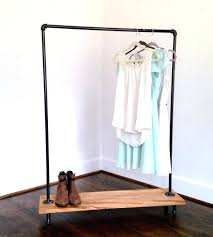diy pipe clothes rack rolling clothing rack diy steel pipe clothing rack