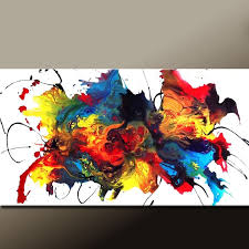 custom made custom made abstract canvas art painting huge 60x36 original painting by destiny womack
