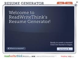Resume Generator - Readwritethink