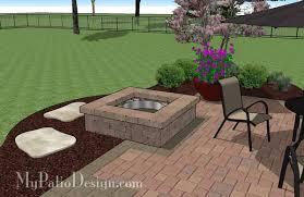 simple patio designs with fire pit. Modren Pit DIY Square Patio Design With Fire Pit  Download Plan U2013 MyPatioDesigncom And Simple Designs With L