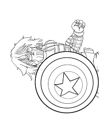 Captain America Winter Soldier Coloring Pages Sketch Captain