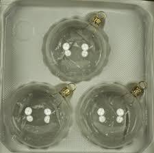 Christbaumschmuck Lauscha 3 Stück 8cm Kugeln Klarglas Mit