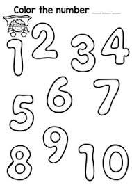 Disegno Numeri Disegni Da Colorare E Stampare Gratis Per Bambini Con