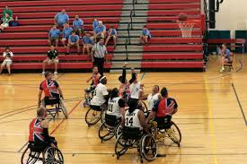 u s department of defense photo essay the british armed forces wheelchair basketball team takes a shot in a game against the u s