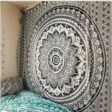 cilected exclusive black and white ombre tapestry bohemia mandala tapestry wall hanging hippie wall cover art india bedspread in tapestry from home garden  on black art tapestry wall hangings with cilected exclusive black and white ombre tapestry bohemia mandala