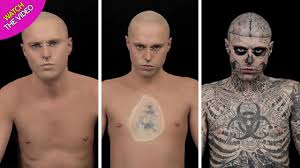 Zombie Boy Rick Genest Uncovers All Of His Tattoos After Being Covered With Makeup