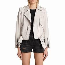 allsaints leather balfern biker jacket white 9io019z16