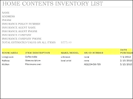 Blank Inventory List Blank Inventory List Template Free Download Word Excel