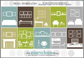 what marvelous things wall display template 10 pak by etsy  on wall art collage template with tips and ideas for hanging pictures and gallery wall layoutshang