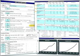Model Template In Excel Discounted Cash Flow Valuation Spreadsheet