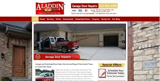 website design for contractors sites4contractors com garage door repair website aladdin doors garage door repairs